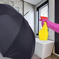 Regenschirm reinigen Alkohol
