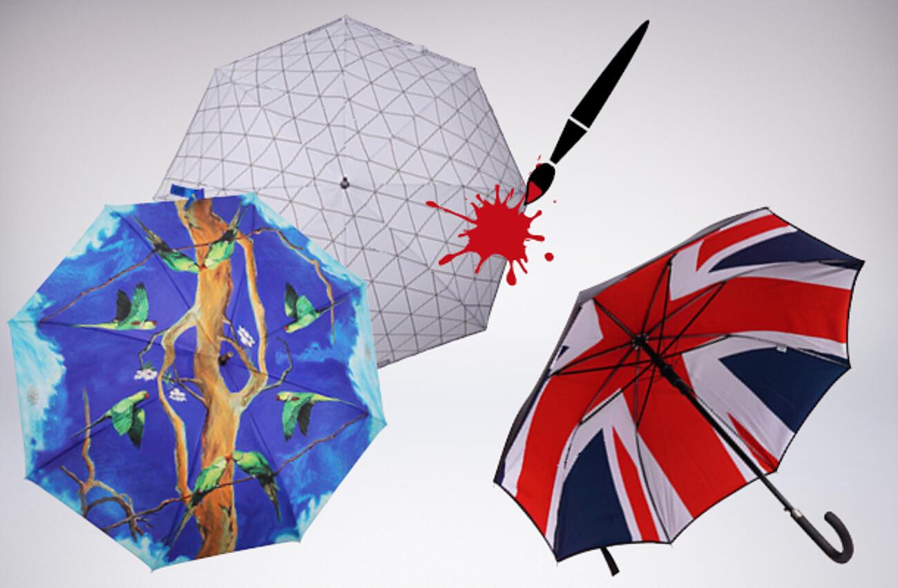 Regenschirme vollflächig bedrucken