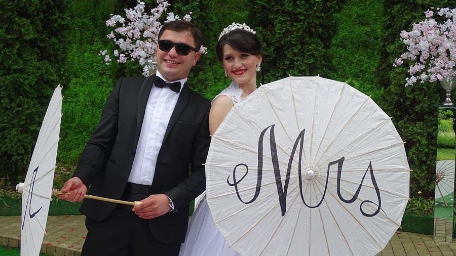 Hochzeit Regenschirm