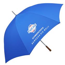 Golfschirm blau mit Logo
