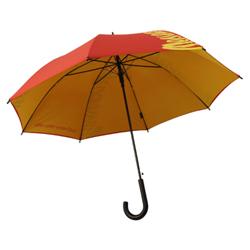 Regenschirm doppelte Bespannung rot gelb Messepark