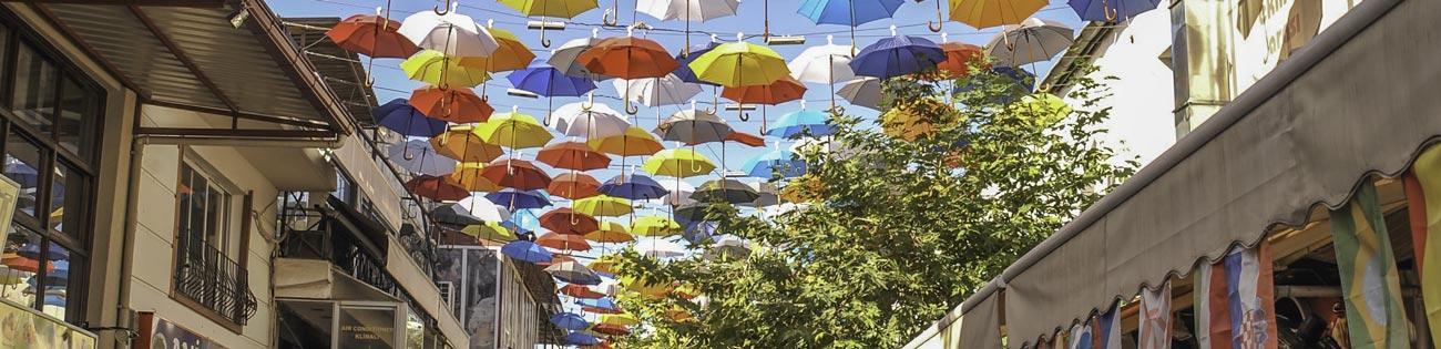 Regenschirme Deko